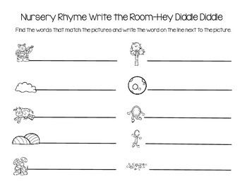 Nursery Rhyme Write the Room