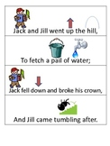 Nursery Rhyme sequencing pocket chart activity