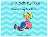 Nursery Rhymes: 1, 2, Buckle My Shoe Handwriting