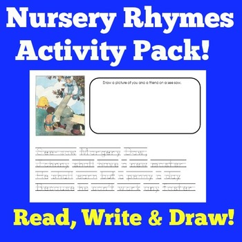 Nursery Rhymes Activities | Poetry Center | Kindergarten Poems