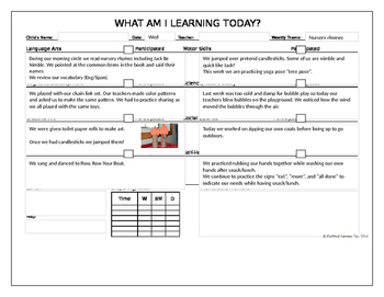 Nursery Rhymes (2) Daily Lesson Plans