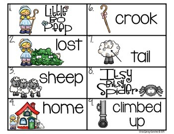 Nursery Rhymes 2 Read and Write the Room Center