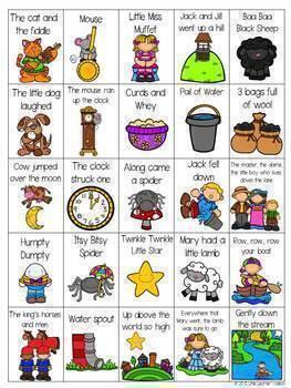 Nursery Rhyme Bingo By Little Learner Toolbox Teachers