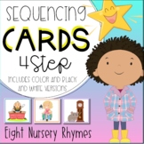 Nursery Rhymes 4 four step sequencing picture cards / stories