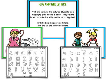 Nursery Rhymes Math and Literacy Centers