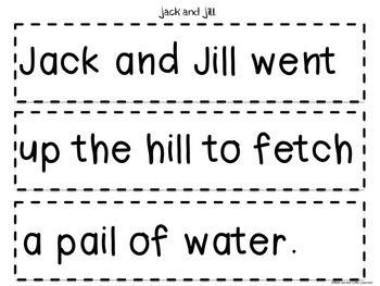 Nursery Rhymes: Printables and Activities