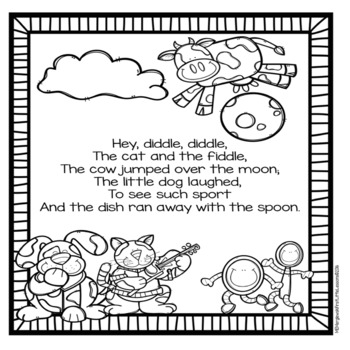 Bundle: Nursery Rhymes Activities and Coloring Pages