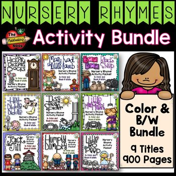 Nursery Rhymes Activity Bundle - Color and B/W Bundle