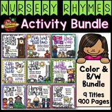 Nursery Rhymes Activity Bundle - Color and B/W Bundle