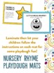 Nursery Rhymes Activity and Craft Pack with BONUS birthday party decorations