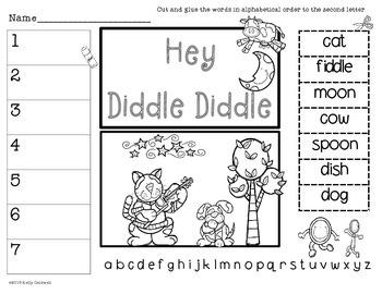 Nursery Rhymes Alphabetical Order