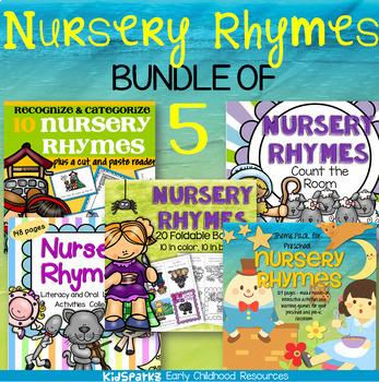 Nursery Rhymes Math and Literacy BUNDLE for Preschool and Kindergarten