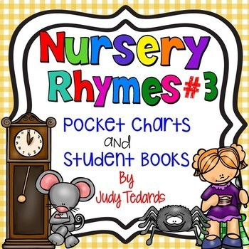 Nursery Rhymes  BUNDLE (9 Pocket Chart Activities with Student Books)