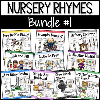 Nursery Rhymes BUNDLE: Books & Sequencing Cards