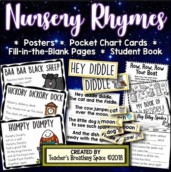 Nursery Rhymes BUNDLE --- Posters, Sequencing Crowns, Re-Telling Crafts & MORE