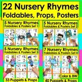Nursery Rhymes BUNDLE VALUE:  15 Foldable Mini Books + Puppets & Props