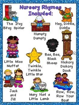Nursery Rhymes BUNDLE with Books, Posters, & MORE- Preschool or Kindergarten