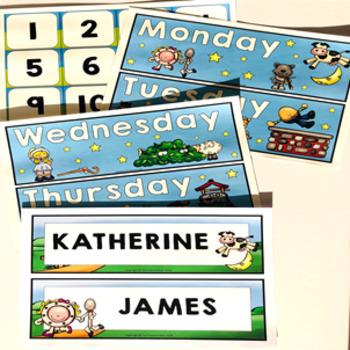Nursery Rhymes Classroom Decor Theme Bundle