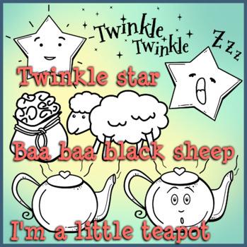 Nursery Rhymes Clip Art Set 1