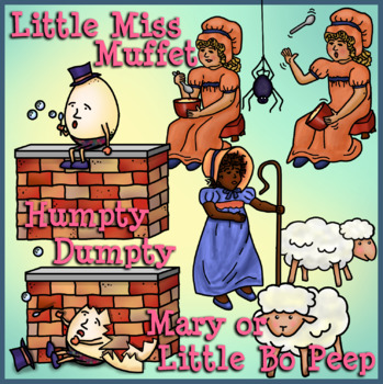 Nursery Rhymes Clip Art Set 2