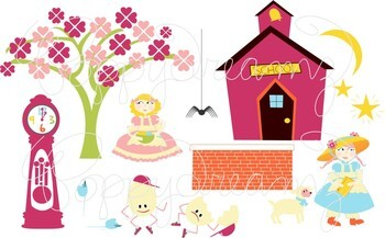 Nursery Rhymes Clipart by Poppydreamz: Mary Had a Little Lamb Hickory Dickory