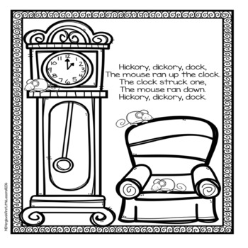 Diddle coloring pages ~ Nursery Rhymes: Coloring Pages by First Little Lessons | TpT