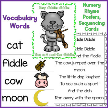 Nursery Rhymes Lesson Plans Center Activities Worksheets and More