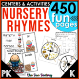 Nursery Rhymes Activities, Lesson Plans, Centers, Worksheets PK and Kindergarten