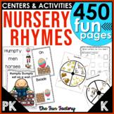 Nursery Rhymes Activities Lesson Plans Centers Worksheets PreK and KIndergarten