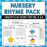 Nursery Rhymes Concepts of Print Pack