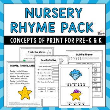 Nursery Rhymes Concepts of Print Pack