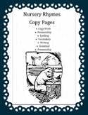 Nursery Rhymes Copy Pages