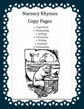 Nursery Rhymes Copy Pages