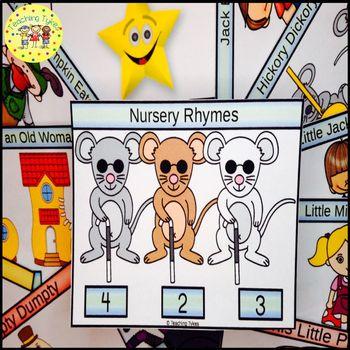 Nursery Rhymes Clip Task Cards