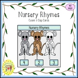 Nursery Rhymes Count and Clip Task Cards