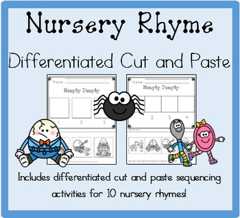 Nursery Rhyme Differentiated Cut and Paste Activities