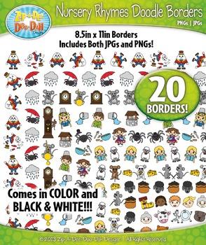 Nursery Rhymes Doodle Frame Borders Mega Bundle Pack — Inc
