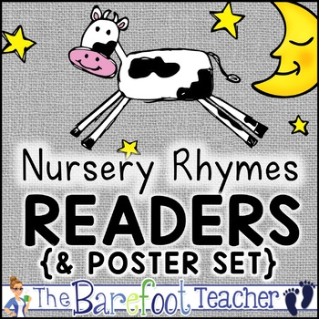Nursery Rhymes Emergent Readers Bundle with Matching Class Posters