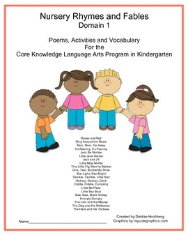 Nursery Rhymes and Fables-- Engage NY---Common Core-- Kindergarten-- Domain 1