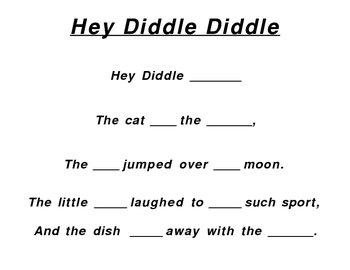 Nursery Rhymes (Fill in the missing words)
