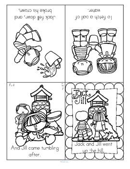 Nursery Rhymes Foldable Booklets FREE
