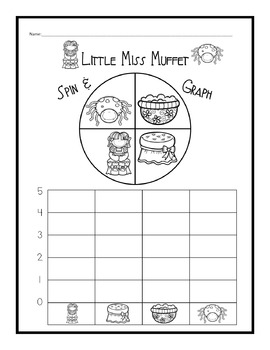 Nursery Rhymes Graphs and Spinners Set 2
