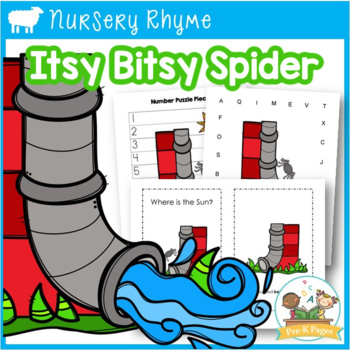 Nursery Rhymes: Itsy Bitsy Spider Literacy and Math Activities