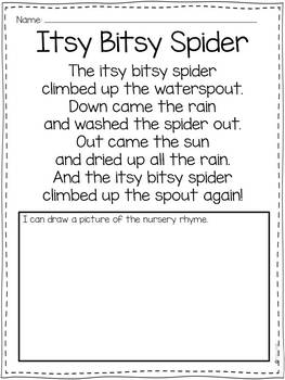 Itsy Bitsy Spider with a Home Connection and Stem Challenge