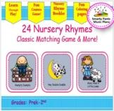 Nursery Rhymes {Kindergarten Nursery Rhyme Matching Game}