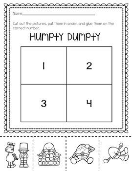 Nursery Rhymes Literacy Unit
