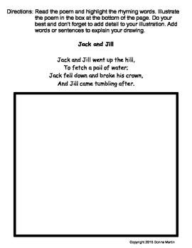 Nursery Rhymes Literacy/Poetry Centers
