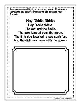 Nursery Rhymes Literacy/Poetry Centers Set 2