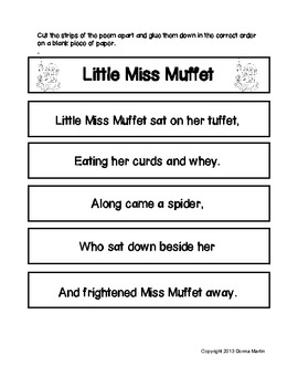 Nursery Rhymes Literacy/Poetry Centers Set 2