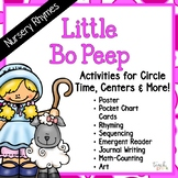 Nursery Rhymes: Little Bo Peep Activities for Circle Time, Centers & More!